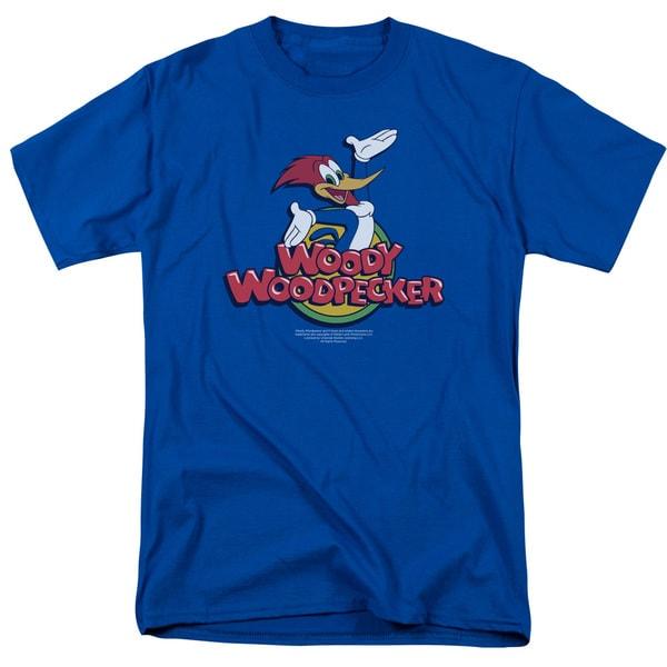Woody Woodpecker/Woody Short Sleeve Adult 18/1 in Royal