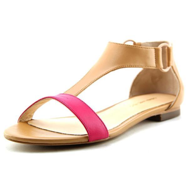 Carmen Marc Valvo Women's Giselle Tan Leather Sandals