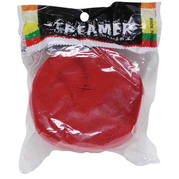 "Axiom 34706 1.75"" X 81' Red Crepe Streamer"