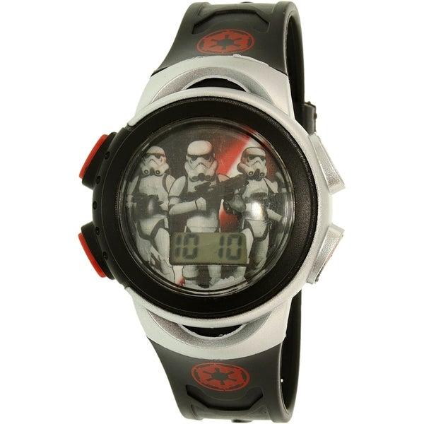 Disney Boys' Star Wars SWRKD045 Silver Plastic Quartz Watch