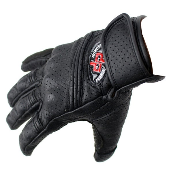 Perrini Pro Motorcycle Biker Racing Motorbike Cross Line Perforated Leather Gloves (All Sizes) 20352057
