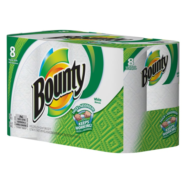 Bounty 88271 8-count White Bounty Paper Towels