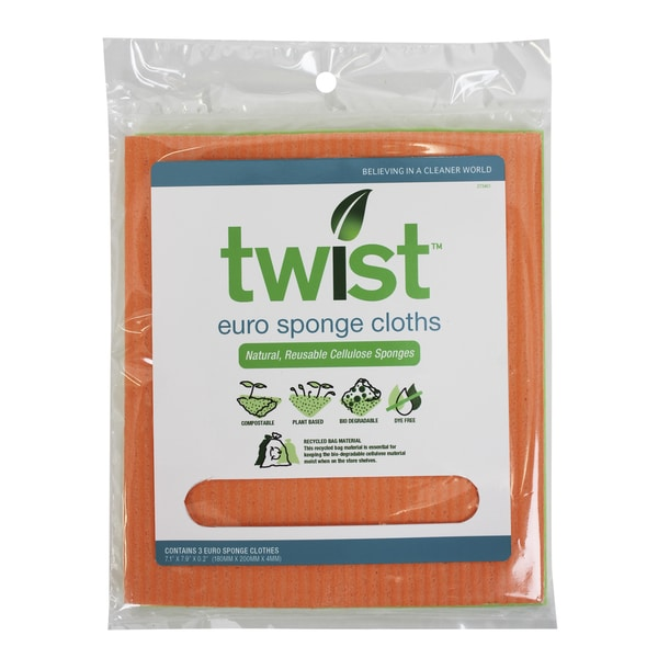 Twist 273461 European Sponge Cloths #20 3-count