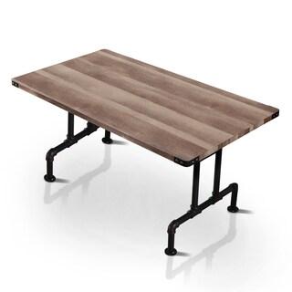 Furniture of America Herman Industrial Antique Black Pipe 63-inch Metal Dining Table