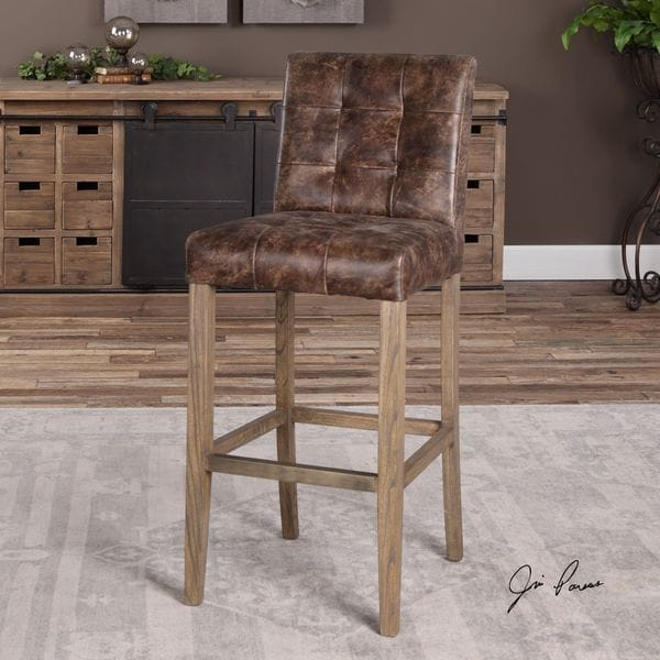 Julian Tufted Bar Stool
