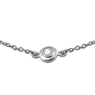 Beverly Hills Charm 14k White Gold 16 to 24 Inches Diamonds By The Yard Necklace (H-I, I2-I3)
