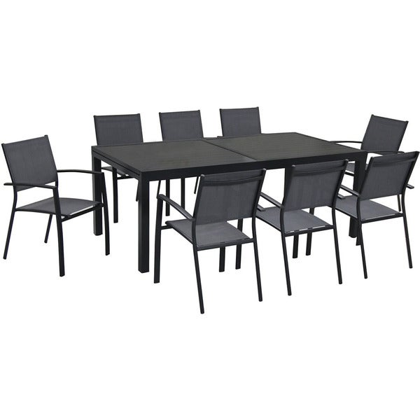 Hanover Naples 9-Piece Outdoor Dining Set