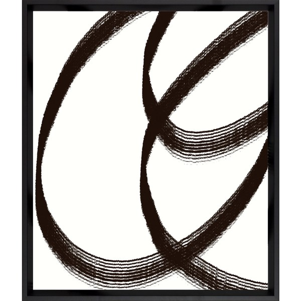 Black Lines Framed Art Print