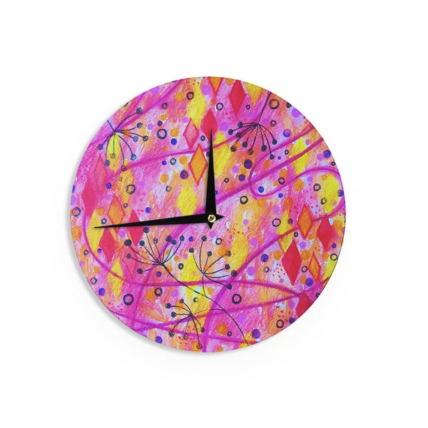 KESS InHouse Michael Sussna 'Reach for the Sky' Purple Brown Wall Clock