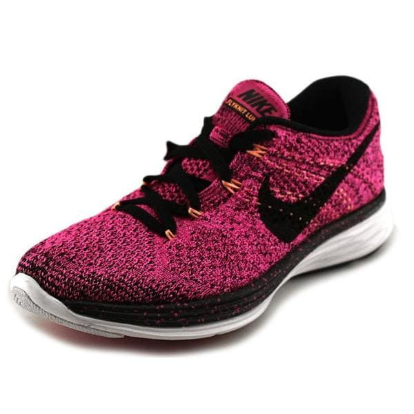 Nike Women's 'Flyknit Lunar 3' Pink Synthetic Athletic Shoes