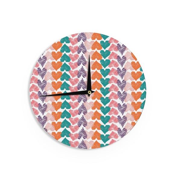 KESS InHouse Sam Posnick 'Chandelier' Wall Clock