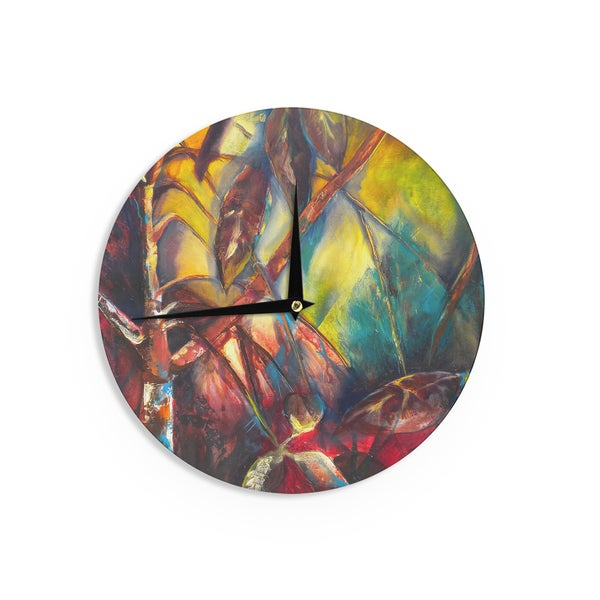KESS InHouse Robin Dickinson 'He Who Seeks Beauty' Coastal Wall Clock