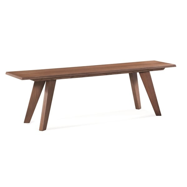 Saloom Tapered Leg Brown Oak 48-inch Weathered Bench