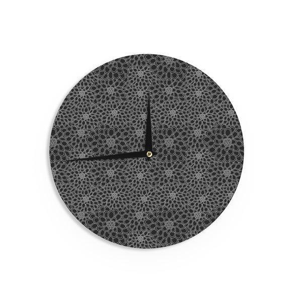 KESS InHouse Project M 'Colour Blocks Zoom' Geometric Rainbow Wall Clock