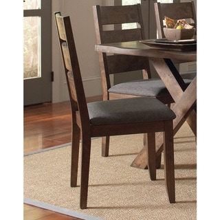 Ladderback Dining Side Chairs Knotty Nutmeg and Grey (Set of 2)