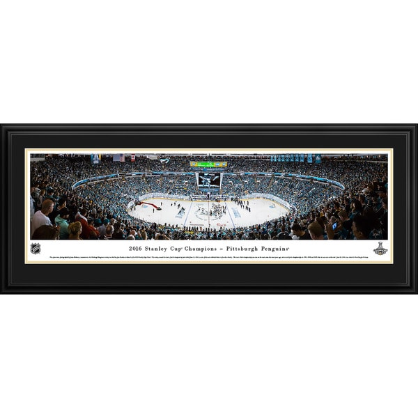 Blakeway Panoramas 2016 NHL Stanley Cup Champions Pittsburgh Penguins Framed NHL Print 20401588