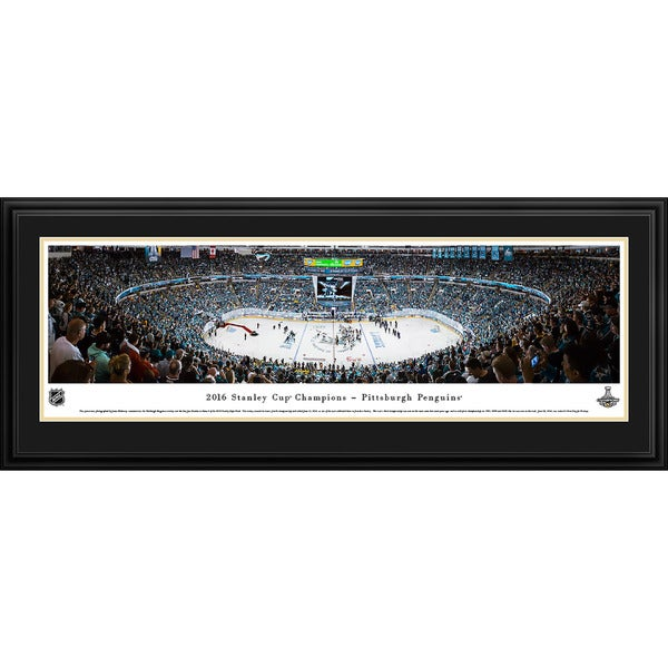 Blakeway Panoramas 2016 NHL Stanley Cup Champions Pittsburgh Penguins Framed NHL Print 20401587