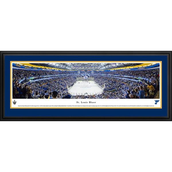 Blakeway Panoramas Saint Louis Blues End Zone Framed NHL Print