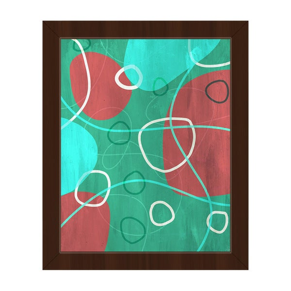 'Stones in the Sea' Framed Canvas Wall Art
