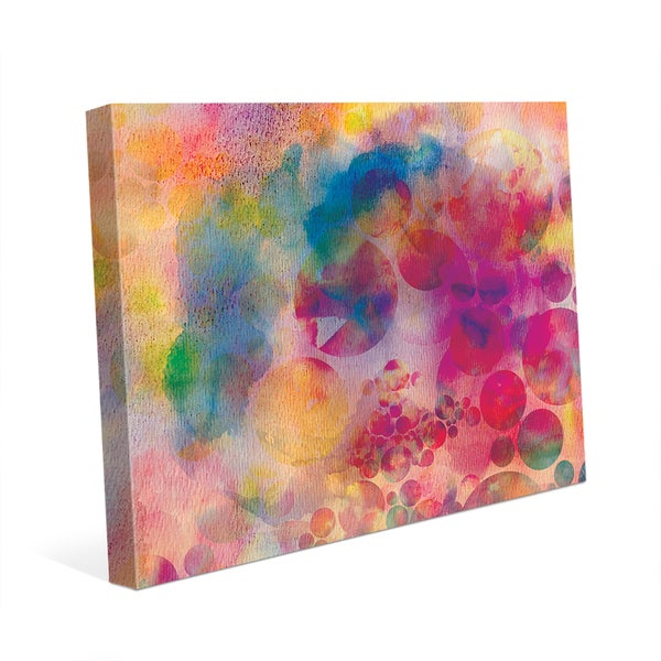 Spotty Cerise Droplets' Canvas Wall Art