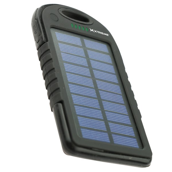 Xtreme 5,000mAh Dual-USB Outlet Solar Battery Power Bank with Built-in Flashlight