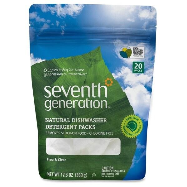 Seventh Gen. Natural Dishwashing Detergent 20-Pack