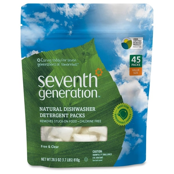 Seventh Gen. Natural Dishwasher Detergent 45-Pack
