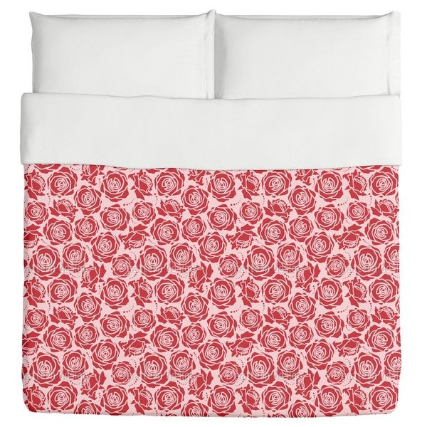 Rose Blossoms Rosey Duvet