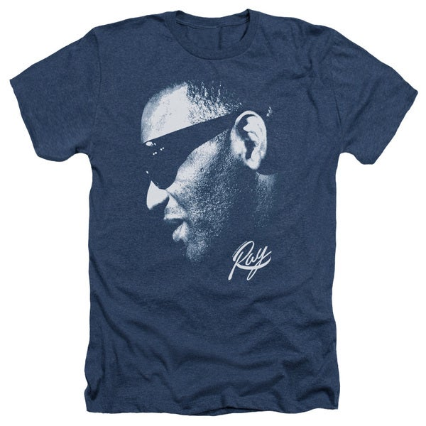 Ray Charles/Blue Ray Adult Heather T-Shirt in Navy 20418100