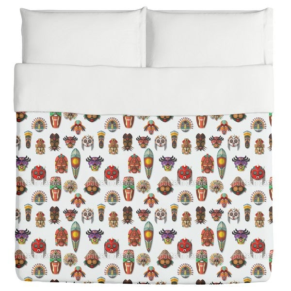 Masks On the Wall Duvet