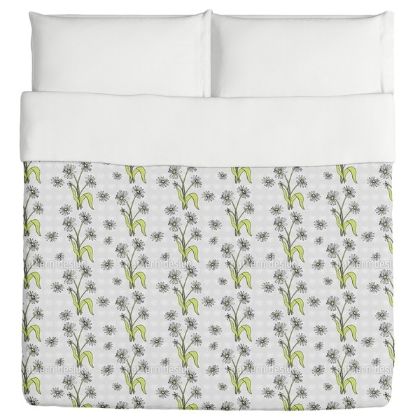 Daisy Flowers Grey Duvet