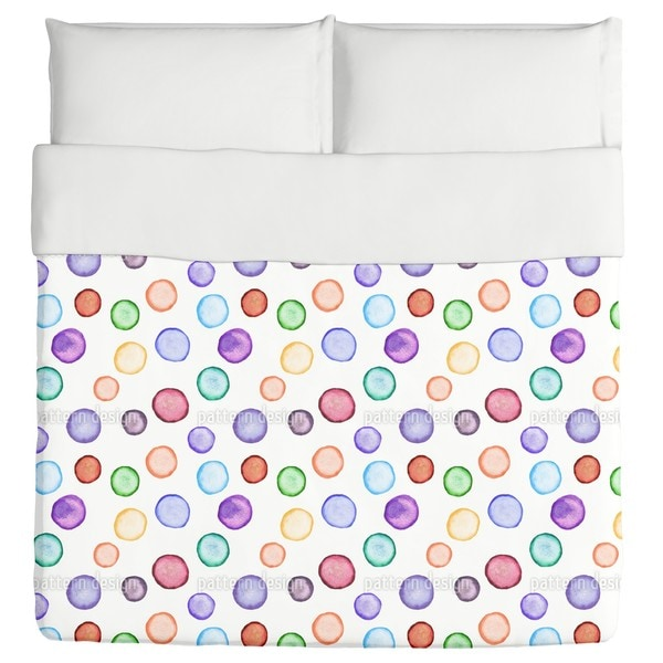 Watercolors Dot Com Duvet