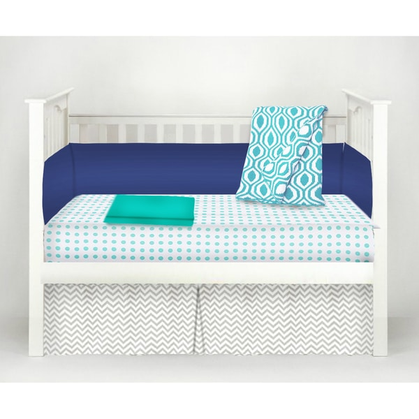 American Baby Company The Blues Cotton 5-Piece Baby Crib Bedding Set