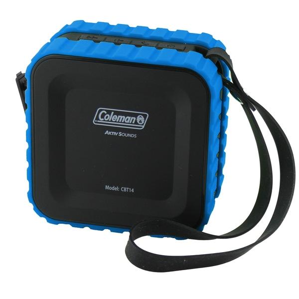 Coleman AktivSounds CBT14 Black and Blue Waterproof Bluetooth Cube Speaker 20423802