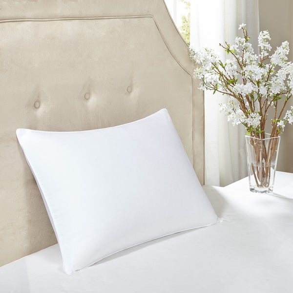 Madison Park Signature 600 Thread Count Luxury Down White Cotton Pillow