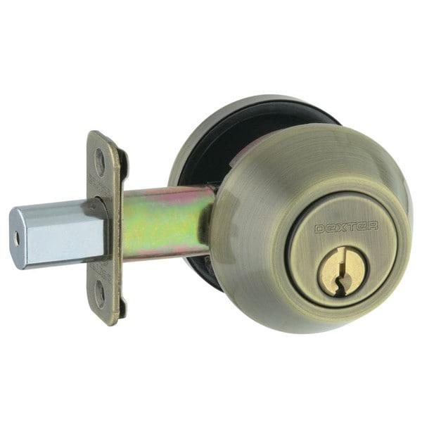Schlage JD62V609 Antique Brass Double Cylinder Deadbolt