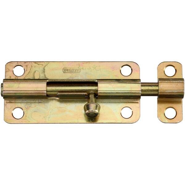 "Stanley Hardware 758062 4"" Satin Brass Barrel Bolts"