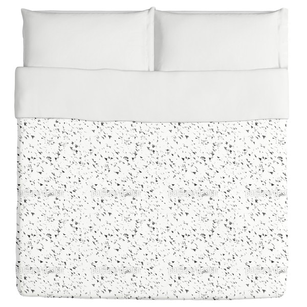 Grey Triangle Snow Duvet