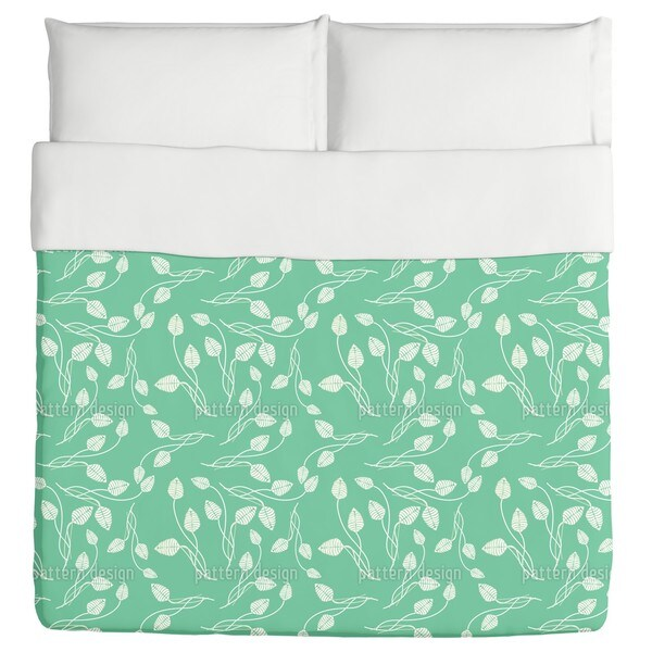 Flower Dance On Mint Duvet