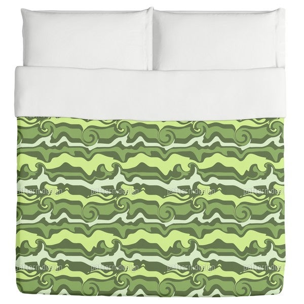 Green Wave Chaos Duvet