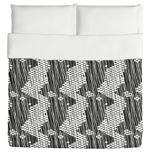 Rain On Grid Cross Duvet