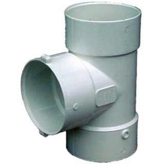 "Genova Products 41440 4"" PVC Bull Nose Tee"