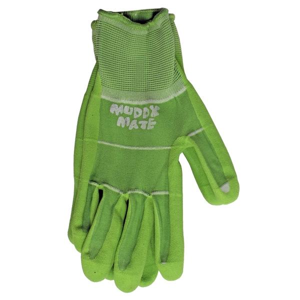 Boss Gloves 9404GM Medium Green Nitrile Palm Garden Gloves