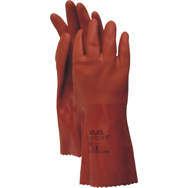 Atlas Glove 8620XXL XXL Orange Vinyl Gloves