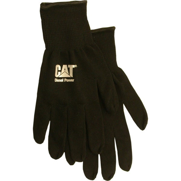 Cat Gloves CAT017407L Black Heavy Gauge String Knit Gloves