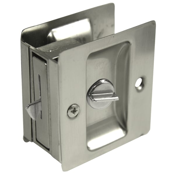 Ultra Hardware 49606 Satin Nickel Privacy Pocket Door Lock