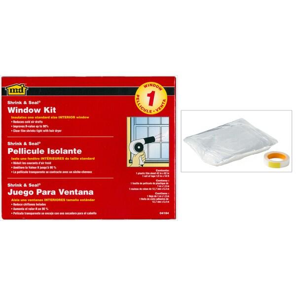 """M-D 04440 3-count 42"""" X 62"""" Shrink & Seal Indoor Window Kits"""