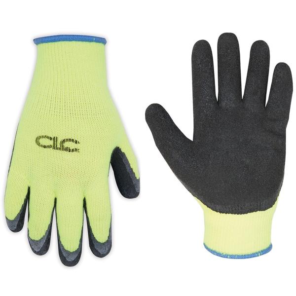 CLC Work Gear 2339L Hi-Viz Cold Weather Latex Dip Gripper Gloves