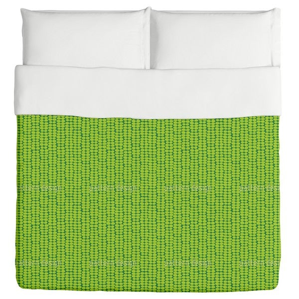 Leaf Green Retro Duvet