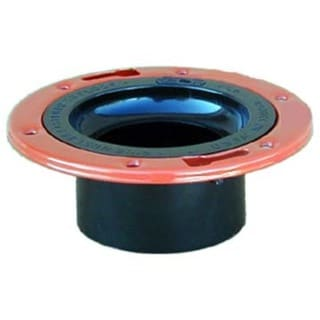 "Genova Products 85150 4"" X 3"" ABS-DWV Closet Flange With Adjustable Metal Ring"